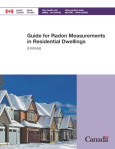 Guide for Radon Measurements in Residental Dwellings