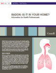 Radon is it in your home, guide for health professionals